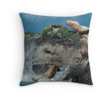 """Ouch"" Throw Pillow"