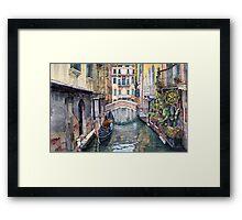 Italy Venice Trattoria Sempione Framed Print