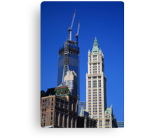 Freedom Tower and Woolworth Building Canvas Print