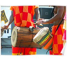 Drums at Umoja Festival 2011 Johnson City Tennessee Poster