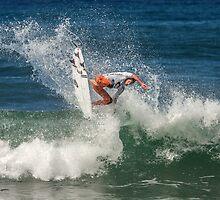 Brett Simpson - Rip Curl Pro, Bells Beach 2013 by John Conway