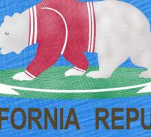 Flag of California Polar Bear Sticker