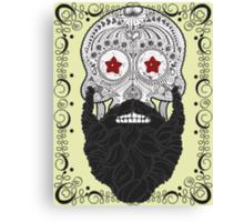 Skull Beard Canvas Print