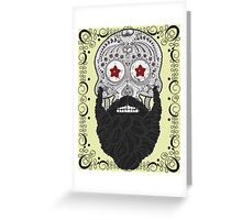 Skull Beard Greeting Card