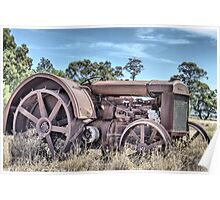 early 1900's tractor retired Poster