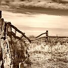 wooden country style fence by outbacksnaps