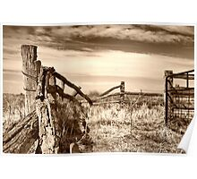 wooden country style fence Poster