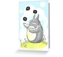 Juggling Totoro Greeting Card