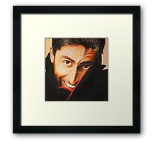 David Tennant Oil Painting Framed Print