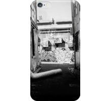 black and white lanes iPhone Case/Skin