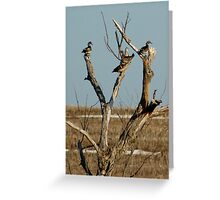 Family of Four Woodies Greeting Card