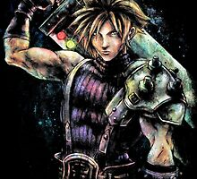 EPIC CLOUD STRIFE FINAL FANTASY VII PORTRAIT by kolabs
