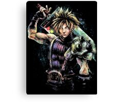 EPIC CLOUD STRIFE FINAL FANTASY VII PORTRAIT Canvas Print