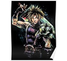 EPIC CLOUD STRIFE FINAL FANTASY VII PORTRAIT Poster