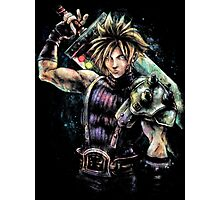 EPIC CLOUD STRIFE FINAL FANTASY VII PORTRAIT Photographic Print