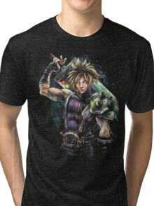 EPIC CLOUD STRIFE FINAL FANTASY VII PORTRAIT Tri-blend T-Shirt