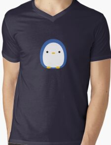 Roly Poly Penguin Mens V-Neck T-Shirt
