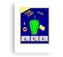 Time Lord Tonic Canvas Print