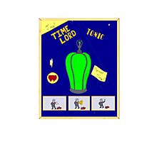 Time Lord Tonic Photographic Print