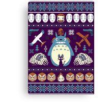 Totoro Sweater Canvas Print