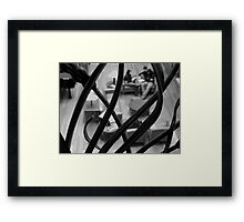 When? Framed Print