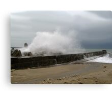 Winter Storm on The Seaside Canvas Print