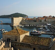Dubrovnik old Town Harbor by kirilart