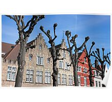 Typical Bruges Facades Poster
