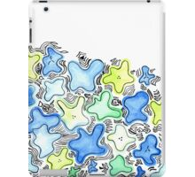Blue Green Flowers iPad Case/Skin
