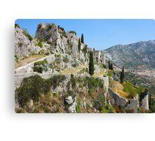 Fortress Klis near Split Canvas Print