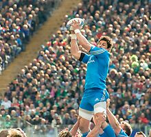 Clean line-out ball, Stadio Olimpico, Roma by Andrew Jones