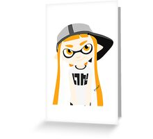 Splatoon - Inkling girl Orange Greeting Card