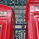 Telephone boxes by Karentreefern