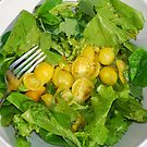 Yellow Tomato Salad Bowl With Fork by jojobob