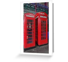 A pair of telephone boxes Greeting Card
