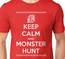Keep Calm and Monster Hunt (White Text) Unisex T-Shirt