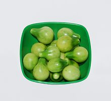 Green Tomatoes In Green Bowl by jojobob