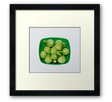 Green Tomatoes In Green Bowl Framed Print