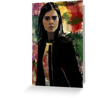 Clara Oswald The Impossible Girl Greeting Card