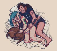 Punx 'n' Pups: Triple Spooning by iaind