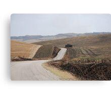 Road Across Puglia Landscape Canvas Print