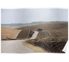 Road Across Puglia Landscape Poster