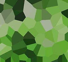 Large Green Crystals by jojobob