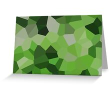 Large Green Crystals Greeting Card