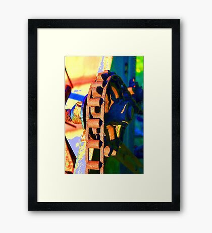 Farm Equipment Abstract Color  Framed Print