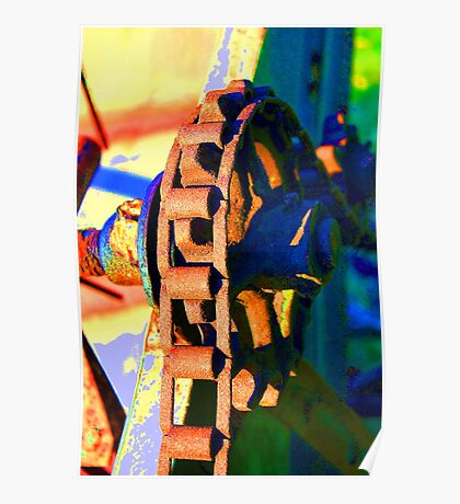 Farm Equipment Abstract Color  Poster