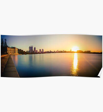 Swan River Sunrise   Perth Poster