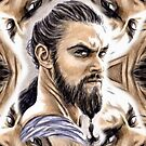 Jason Momoa mini-portrait by wu-wei