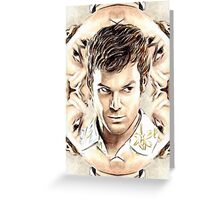 Michael C. Hall mini-portrait Greeting Card