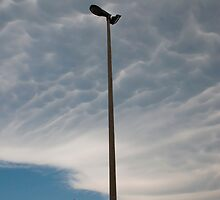 Street Lamps and Mammatus Clouds by jojobob